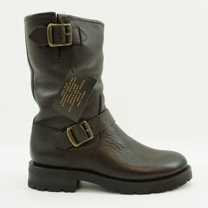 NEW Frye Natalie Mid Engineer Lug Shearling Boot 7